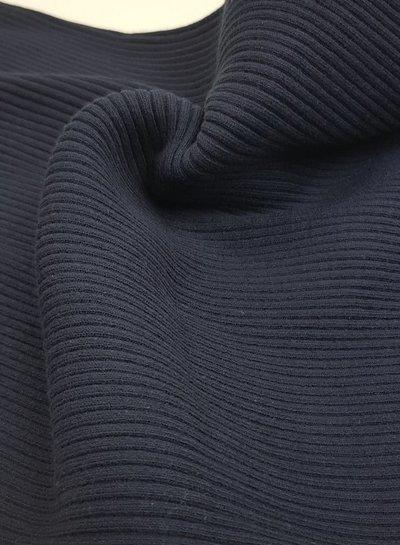 marineblauw - thick ridge ribbing