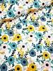 fresh flowers - stretch katoen
