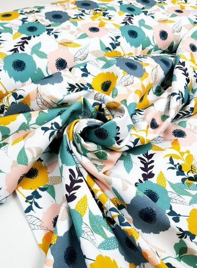 fresh flowers - stretch cotton