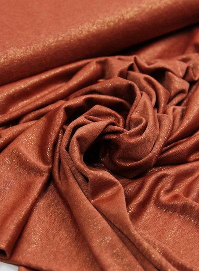 roest glitter - soepelvallende stof