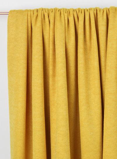 geel glitter - soepelvallende stof