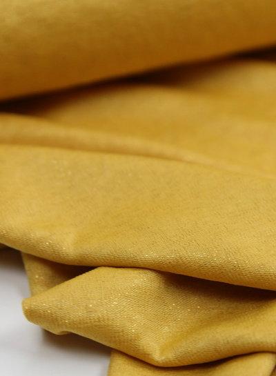yellow glitter - supple fabric
