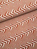 rusty stripes chevron - deco fabric with linen look