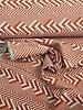 roest chevron strepen - decostof met linnen look