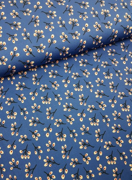 blue twigs - viscose jersey