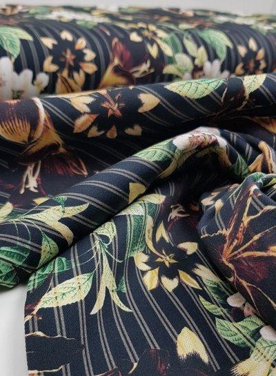 Martha's flowers  -stretch katoen