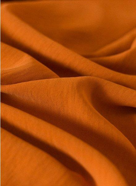 Fibremood roest - soepelvallende stof met textuur