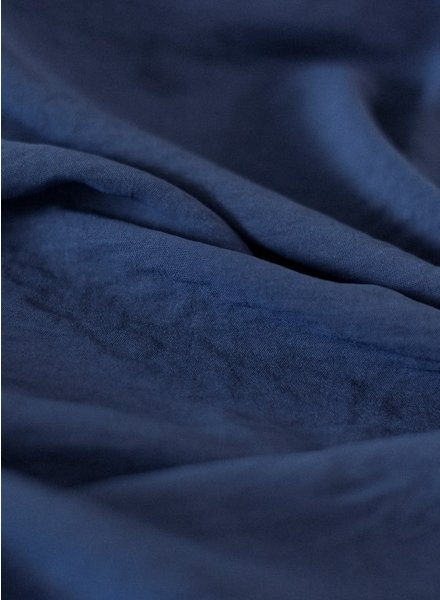 Fibremood navy - textured polyester fabric