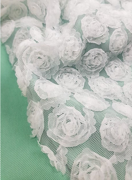 tulle with flowers