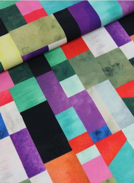 colored blocks  - crêpe