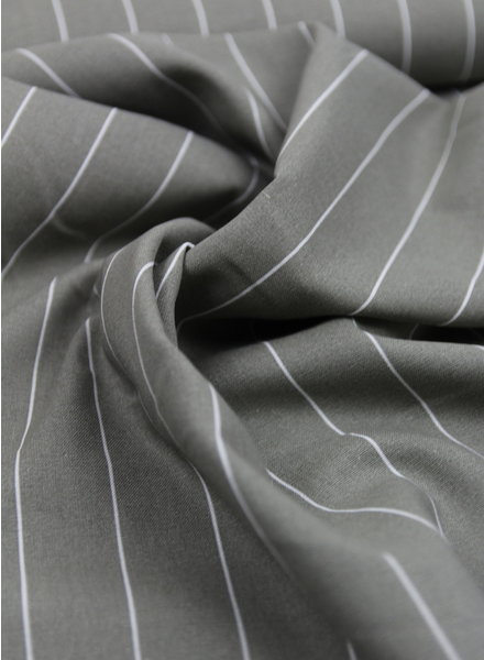 grey wide stripes - linen viscose