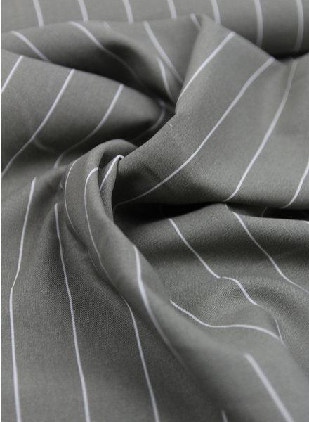 grijs brede streep - linnen viscose
