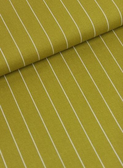 ocre wide stripe - linen viscose