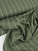 khaki wide stripes - linen viscose