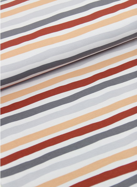 rusty and grey stripes - tricot