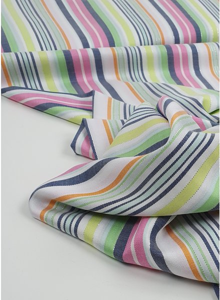 summer stripes with lurex - viscose