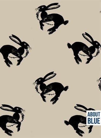 about blue fabrics Run bunny run - french terry