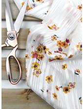 white flowers - chiffon