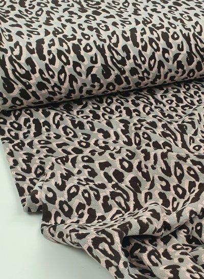luipaard motief - nicky velours