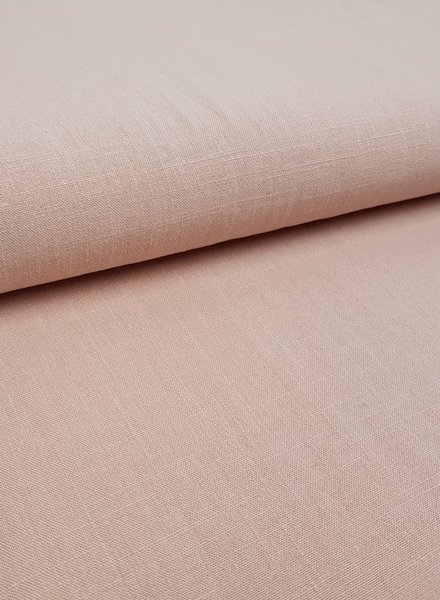 salmon - stonewashed linen viscose
