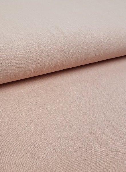 zalm roze - stonewashed linnen viscose