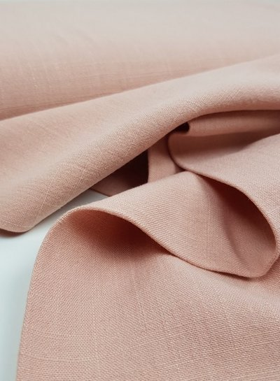 salmon - stonewashed linen viscose