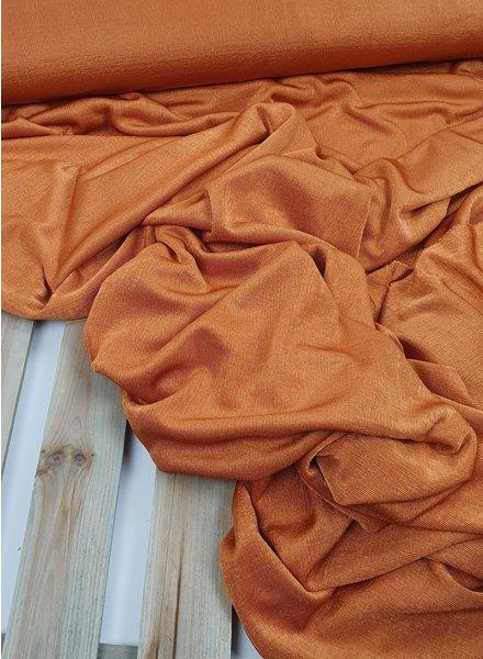 Fibremood orange shining knitted fabric - fibre mood