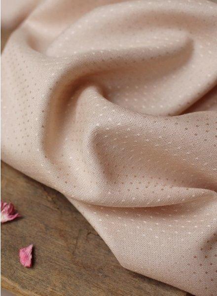 Atelier Brunette dobby blush - viscose