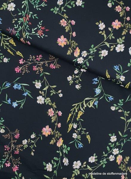 Moschino pepe's flowers - stretch katoen