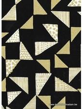 black gold triangles katoen