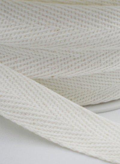Katoen lint / keperband voor mondmaskers - pakje van 3 meter
