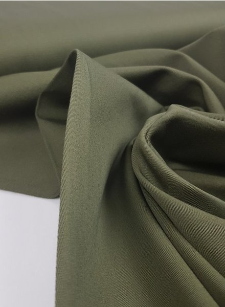 khaki - washed cotton twill
