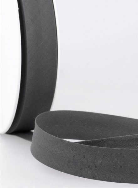 antraciet  biais ribbon 20 mm – 38