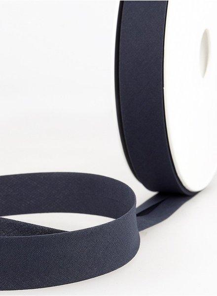 donkergrijs biais ribbon 20 mm – 027