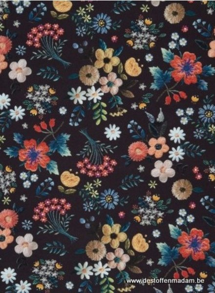 zwart CHRISTINE FLOWERS - viscose