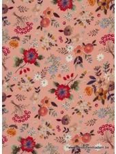 roze CHRISTINE FLOWERS - viscose