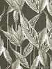 khaki leaves - linnen viscose mix