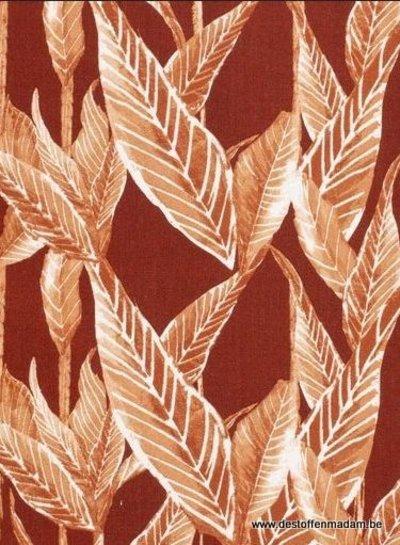 rust leaves - linnen viscose mix