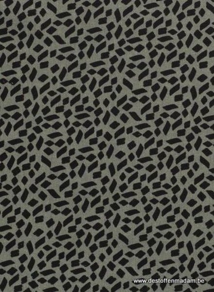 spots green - linnen viscose mix