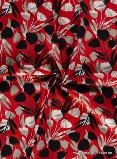 spring flowers - linnen viscose