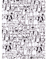 pets black and white - tricot
