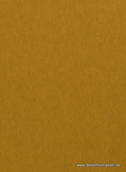 ochre canvas - deco fabric with linen look