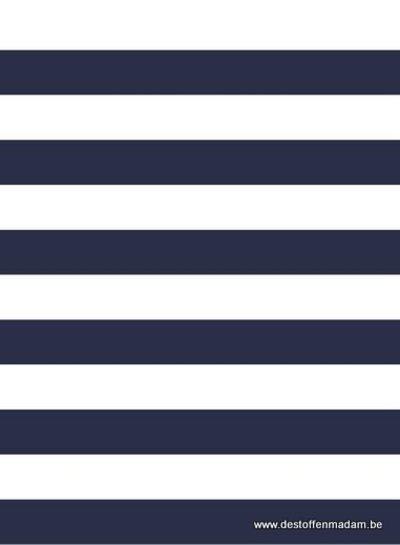 bio french terry - navyblue stripes