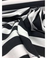 bio french terry - zwarte strepen