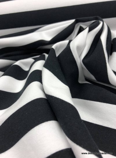 bio french terry - black stripes