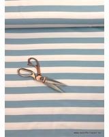 bio french terry - lichtblauwe strepen