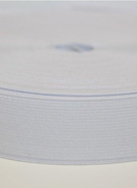 elastic 25mm white