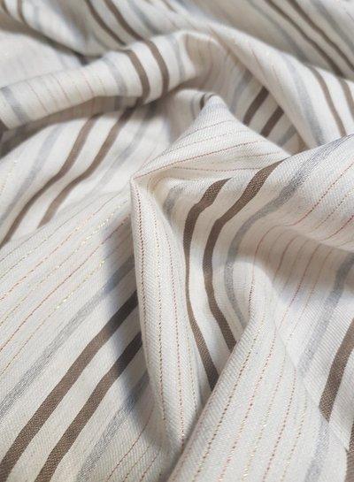 brown lurex stripes - viscose