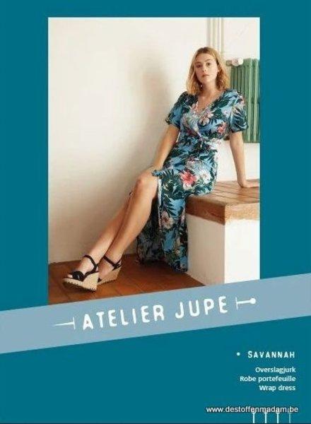 Savannah overslagjurk patroon - Atelier Jupe
