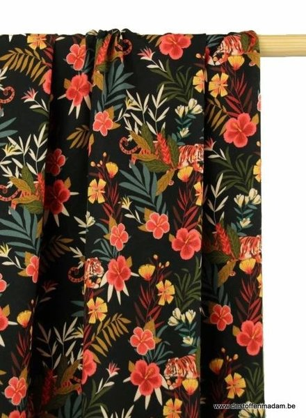 colorful jungle print viscose